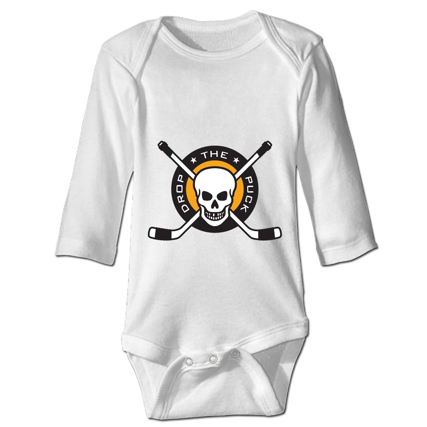 Ssckull Clipart Hockey Funny Cute Novelty Infant One-Piece Baby Bodysuit