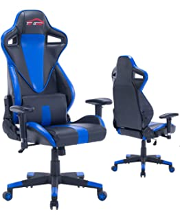 top gamer ergonomic gaming chair pc computer chairs for gaming blueblack8
