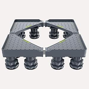 Washing machine pedestal base, adjustable base, 12 support legs Adjustable For dryer, washing machine and refrigerator,Gray