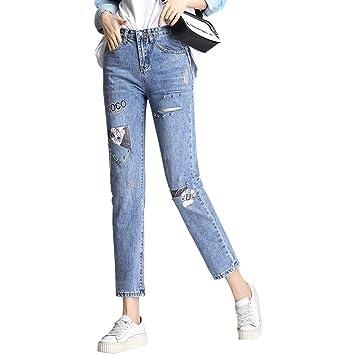 Mujer Vaqueros Slim, Skinny Pantalones Jeans6803 Stretch ...