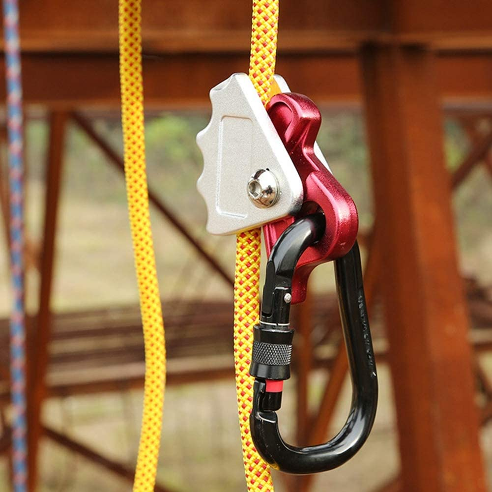 Keenso Bloqueador de Escalada, Bloqueador de Cuerda, Dispositivo de Autobloqueo para el Trabajo