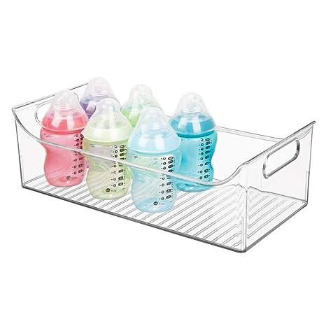 mDesign Cesta organizadora para habitación infantil – Contenedor plástico grande con prácticas asas y sin tapa – Espaciosa caja para juguetes y ...
