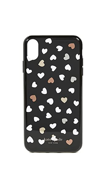 458640fb6c1c Amazon.com: Kate Spade New York Heartbeat iPhone Xs Max Case, Black/White,  One Size: Cell Phones & Accessories