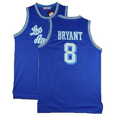 competitive price 25c1d c073e INYANIDI Men's Kobe Jersey Los Angeles 8 Legend Jerseys Retro Basketball  Jersey Blue(S-XXL)