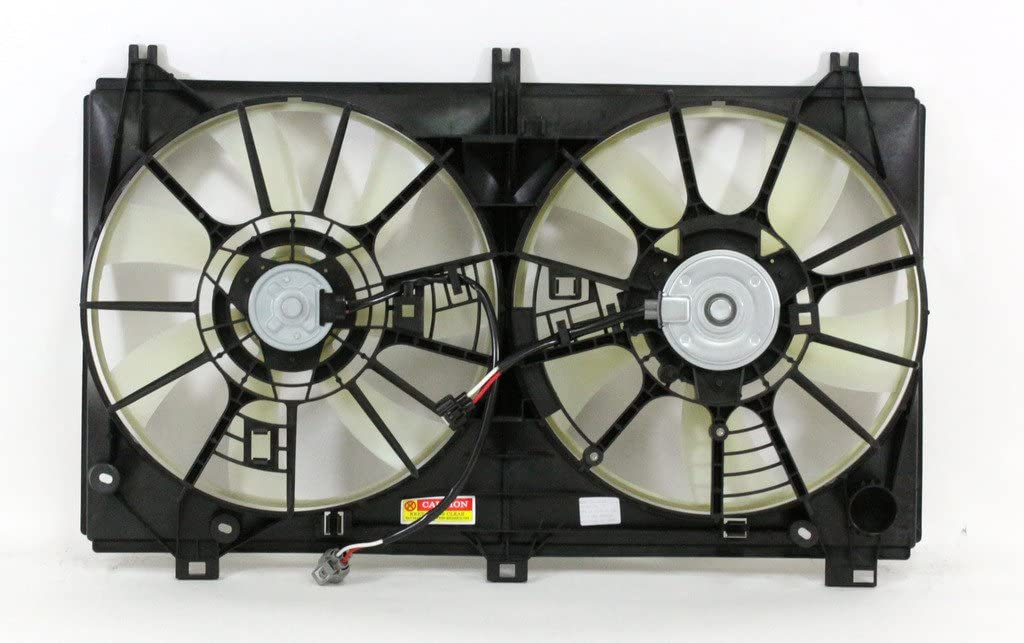 Dual Radiator and Condenser Fan Assembly Cooling Direct For//Fit LX3115131 14-18 Lexus IS250 Sedan 2.5L