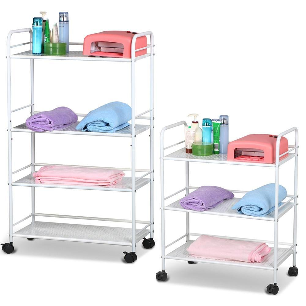 Popamazing 3 Shelf & 4 Shelf Large Salon Beauty Trolley Cart Spa Storage Dentist Wax Treatments