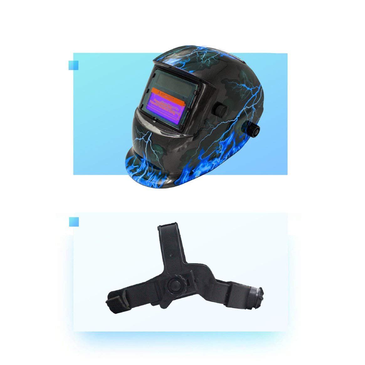 Soudure Photo/électrique Variable Automatique Masque Soudage Masque de Soudeur Grand Champ de Vision Foudre Soudage /Écran de Protection Protection du Travail