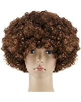 Dasbayla Unisex Afro Short Wig Curly multicolour Halloween Hair Accessory