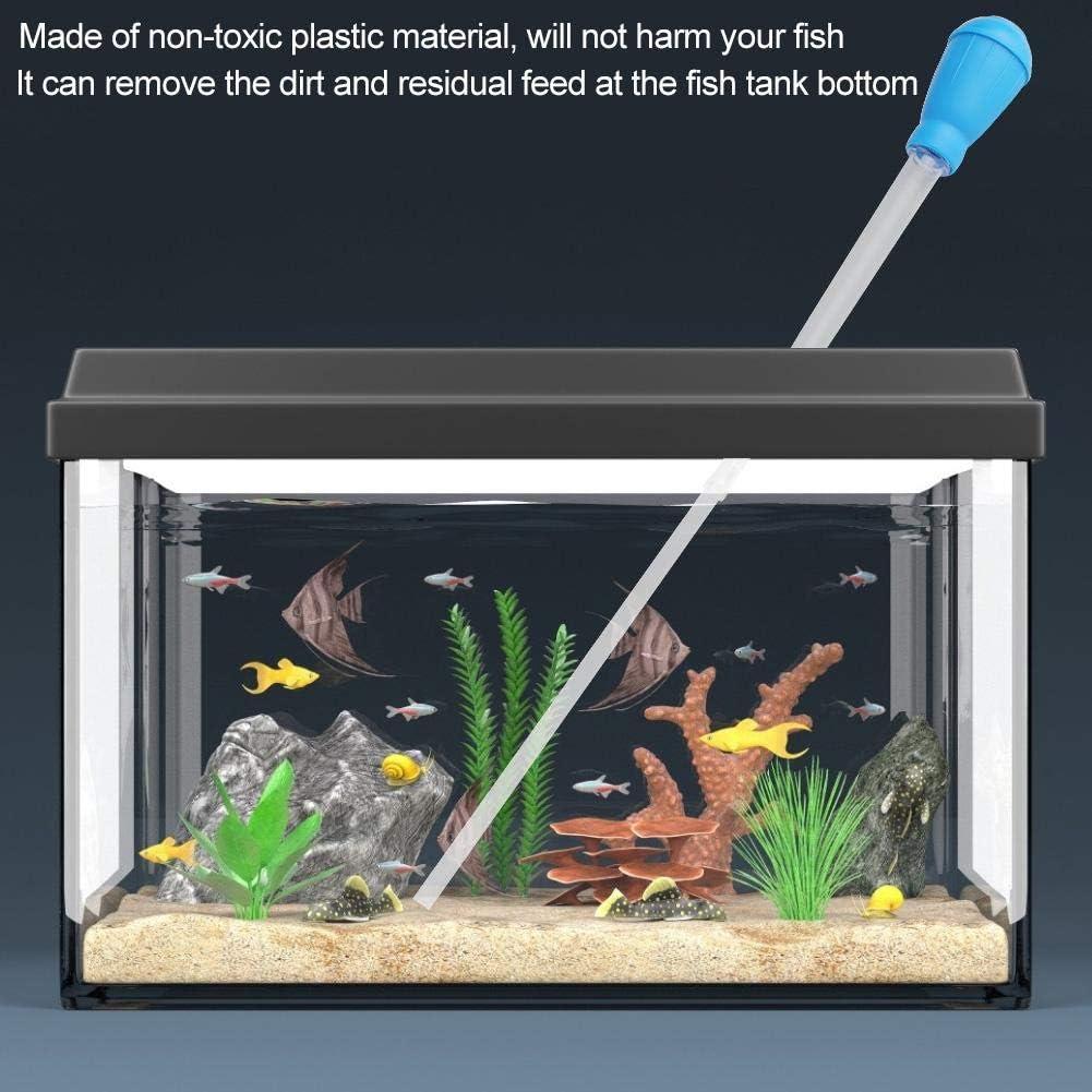 cambiador de agua del tanque de peces con tuber/ía prolongada Tanque de peces Grava Limpiador de arena Herramienta de filtro de limpieza manual para cambio de agua y limpia Kit de limpieza del acuario