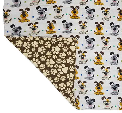 Designer Weighted Blanket for kids (or adult) | Dozens of cute styles in many sizes | Gravity blankets may help relieve anxiety, stress & insomnia | Style - Study Puppy | Flannel - 6 lbs by The Swanky Stitchery (Image #3)