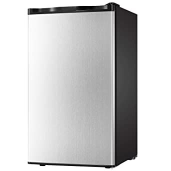 Compact Refrigerator 3.2 cu ft. Unit Small Freezer Cooler Fridge Small  Drink Food Storage Machine for Office, Dorm, Apartment, Bedroom(silver ...