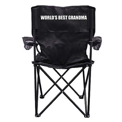 Amazon.com: World s Best Grandma silla de camping con bolsa ...