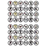 48 Transformers Edible PREMIUM THICKNESS SWEETENED VANILLA, Wafer Rice Paper Cupcake Toppers/Decorations