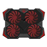 Amstic Laptop Cooling Pad for 12-17.3 inch Laptop with 4 Silent Fans