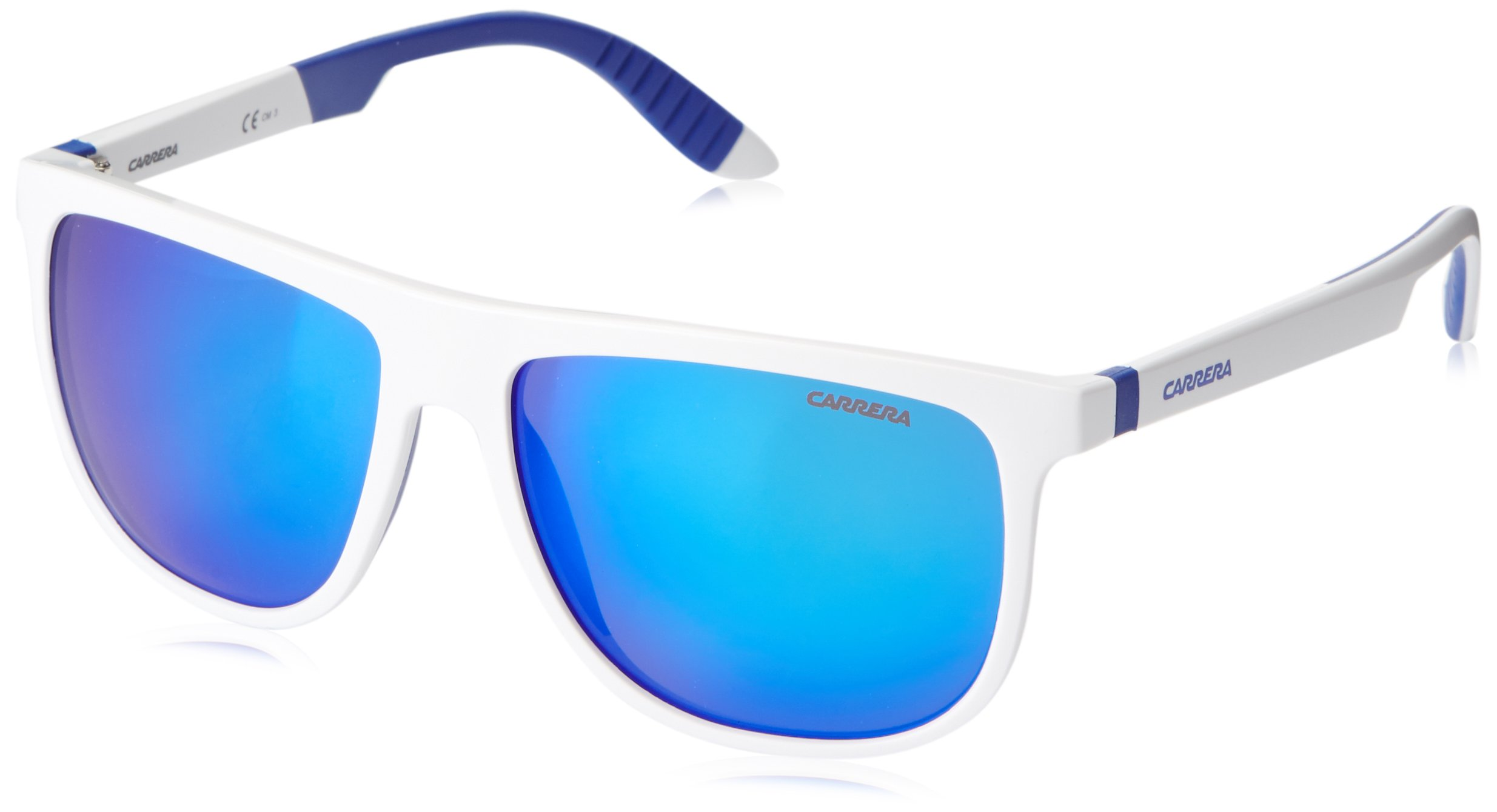 Carrera CA5003SPS Square Sunglasses,White & Blue,58 mm