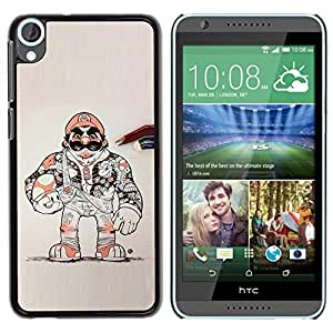 YiPhone /// Prima de resorte delgada de la cubierta del caso de Shell Armor - Super Game Character Retro Console - HTC Desire 820