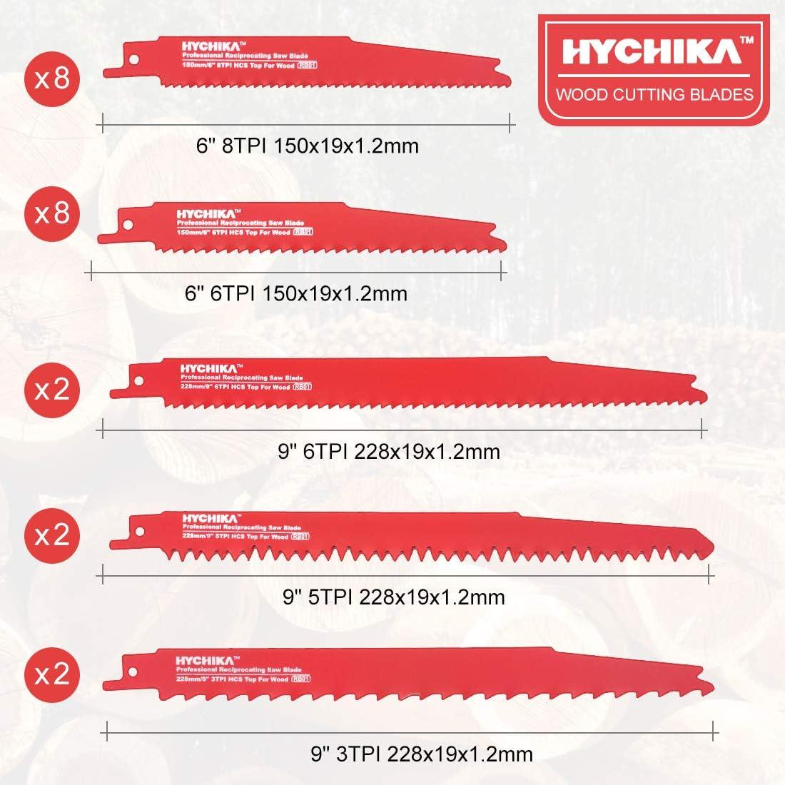 HYCHIKA 32 PCS S/äbels/ägebl/ätter zum Schneiden von Metall und Holz mit Organizer Koffer
