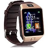 Piqancy DZ09 with Camera,Touch Screen, Bluetooth, Support SIM Card, SD Card Smartwatch, Gold