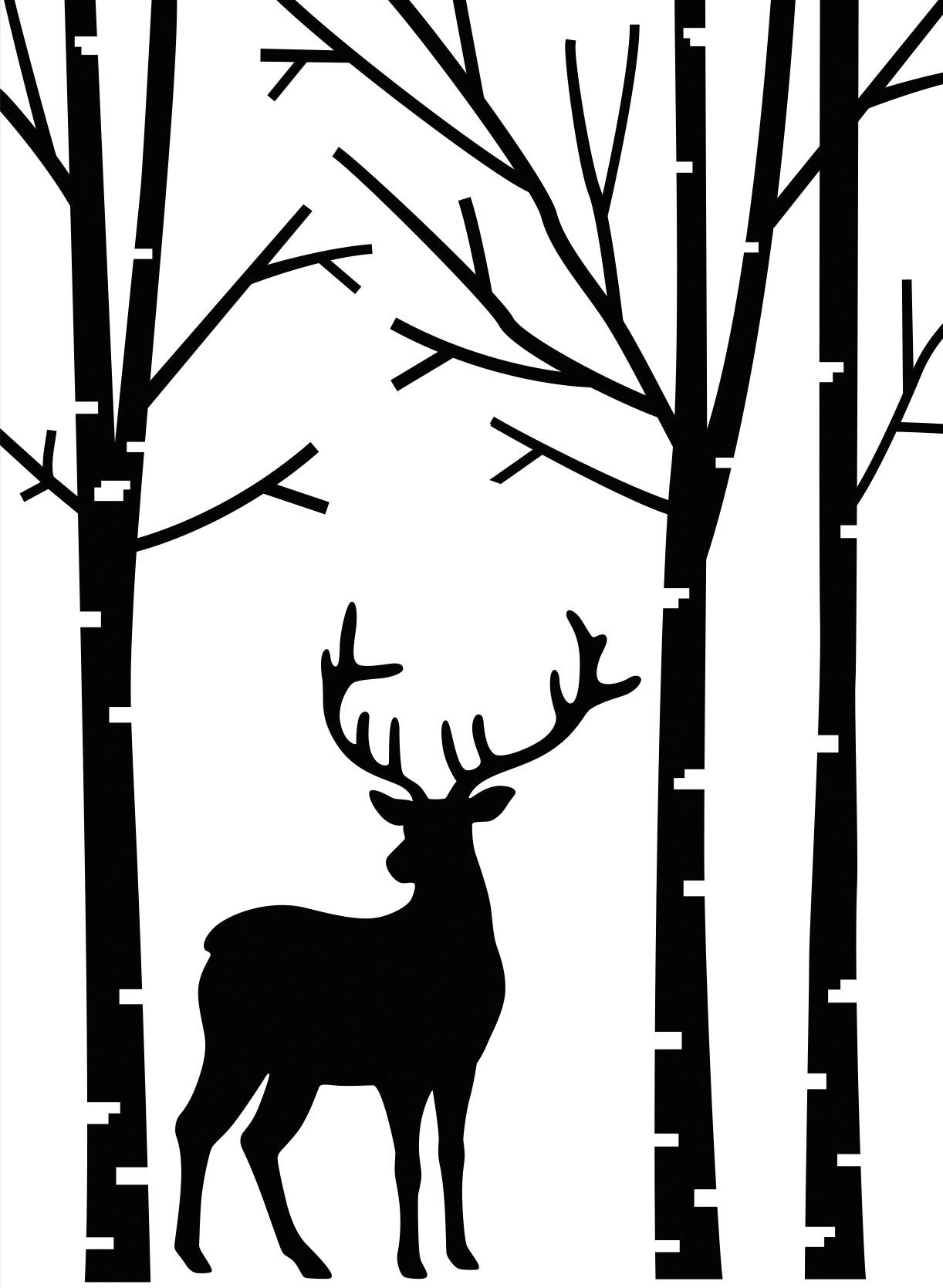 Embossing Folder Deer in The Forest Paper Craft Supply 4.25 x 5.75 inches (8 Pack)