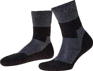Mischgewebe Schurwolle//Baumwolle//Polyamid in schwarz Nordpol F5-Funktionssocke