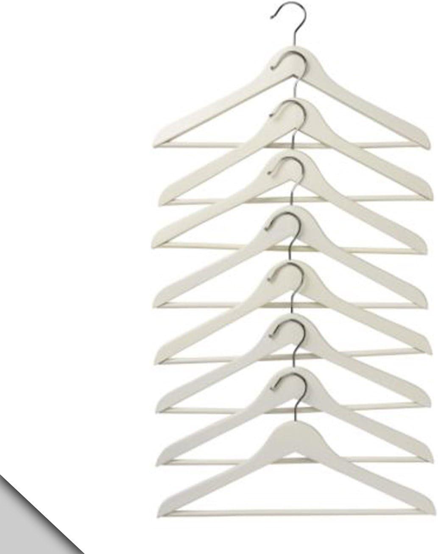 9178915775 IKEA - BUMERANG Curved clothes hanger, white (32 hangers) 61PqL5jIL9L.SL1389_