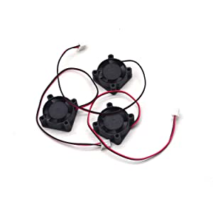 Antrader 3-Pack 12V 0.1A 2Pin 25mm x25mm x10mm DC Small Mini Brushless Cooling Fan