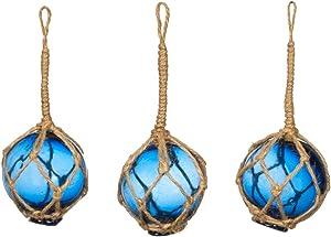 Glass Fishing Floats   Cobalt Blue Japanese Glass Floats 2