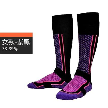 LMHZTMA Deportes Calcetines de esquí Senderismo al aire libre Adulto largo Engrosamiento Escalada Calcetines Hombres Térmico