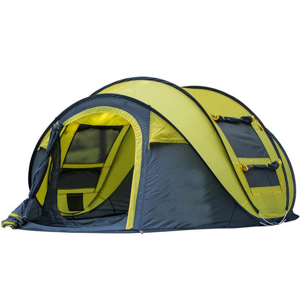 JBHURF Automatisches Zelt für 3-4 Personen (Farbe : Gelb)