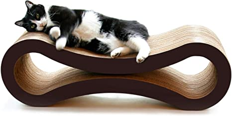 PetFusion Ultimate Cat Scratcher Lounge. [Superior Cardboard & Construction]. Beware cheaper copycats with unverified reviews