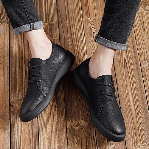 À Hommes Wipe Outsole Oxford Retro chaussures Rond Casual De Noir Pour color Bout Shuo Chaussures Eu Lan Cricket 43 Taille Marron Couleur Lacets Mode tFwtO8
