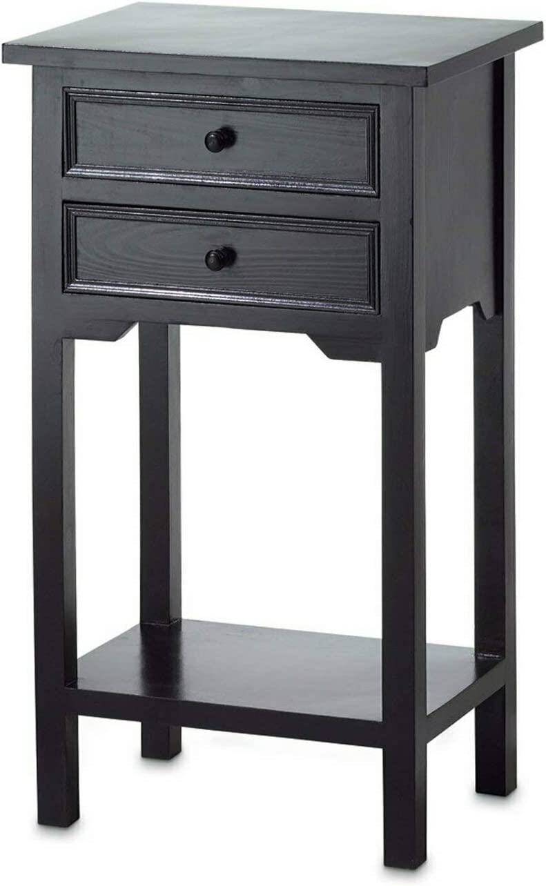 Black Side Table 15.75×11.62×27.25
