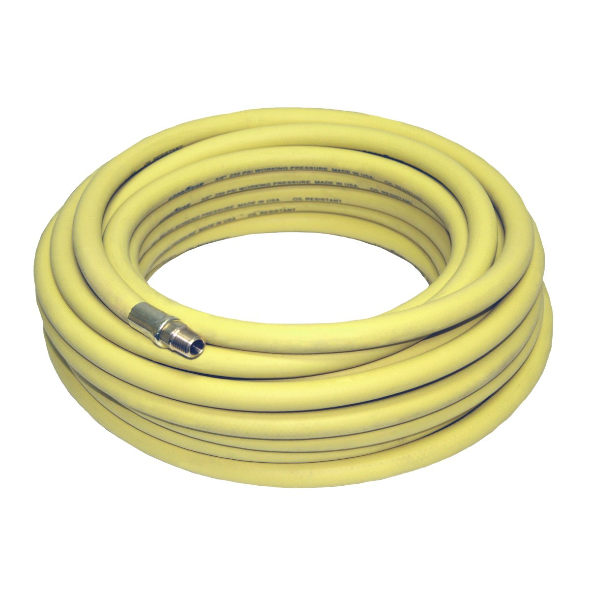 Goodyear 50' x 3/8'' Rubber Air Hose Yellow 250 Psi