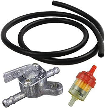 Universal Fuel Pet Cock With Filter and Fuel Line Mini Bike Go Kart Dirt Bike