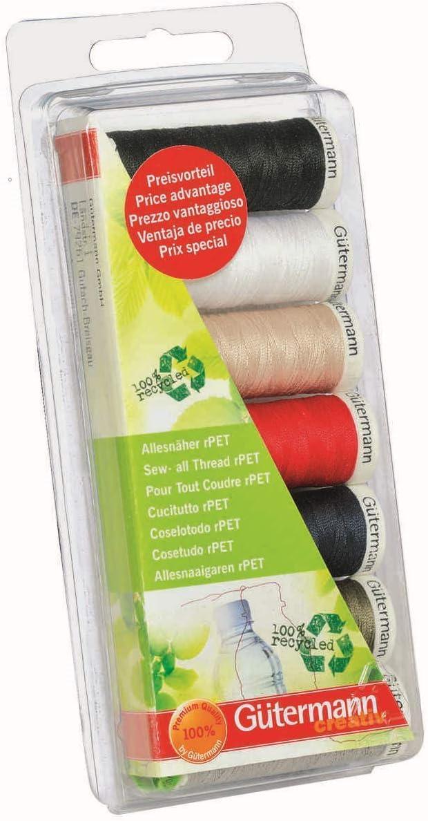 11 x 100m Gutermann kit de fils à coudre-Sew toutes les bobines de fil