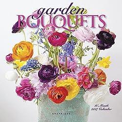 """Graphique 2017 Garden Bouquets 7"""" x 7"""", Mini Calendar (MY20317)"""