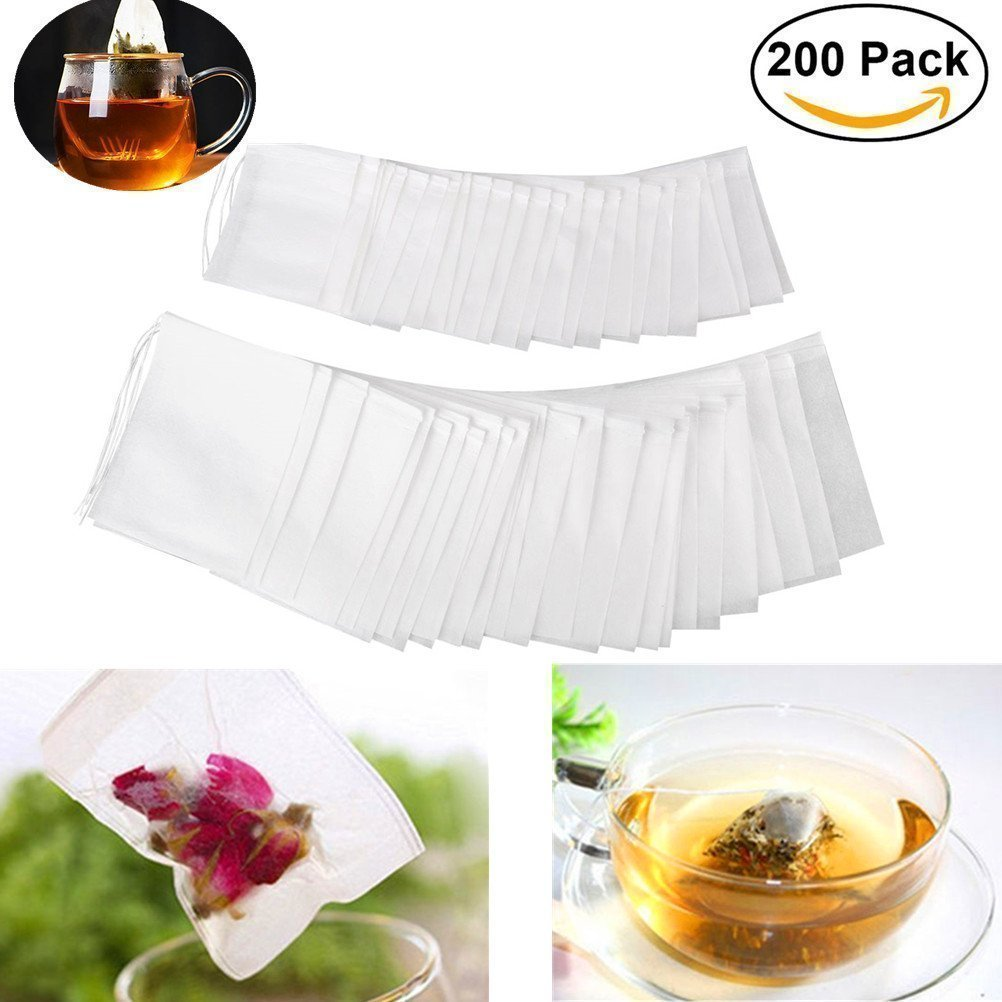 Filter Paper Tea Bags 100 Disposable Tea Strainer for Loose Leaf Tea Unicoco