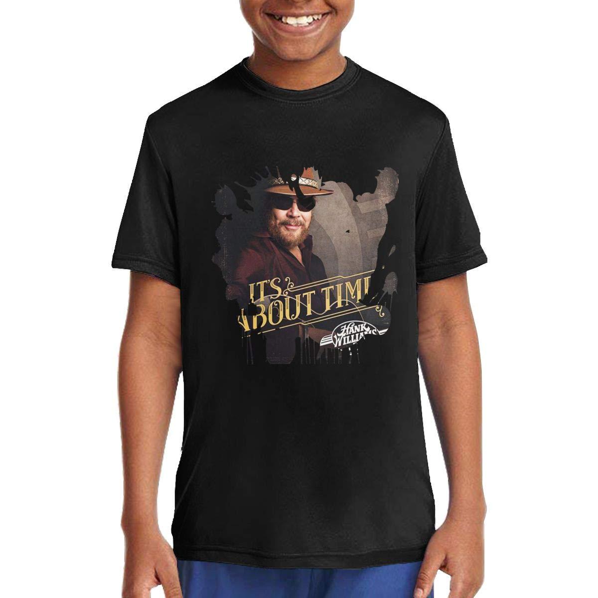 Kids Soft Hank Williams Jr Its About Tim Cotton Music Anime Cartoon Cool Short Sleeves Summer T-Shirt Gift