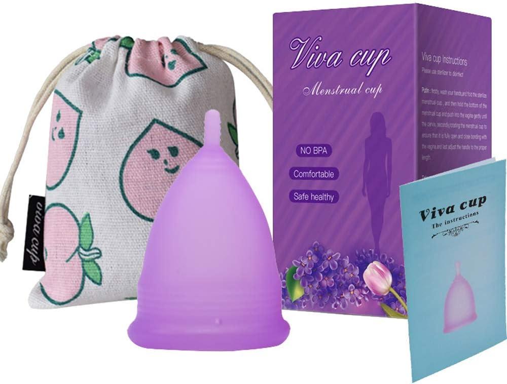 Copa Sensible Super Suave Copa Menstrual - Copas de Silicona de Grado Médico - Productos de Higiene Femenina Reutilizables Copas Sanitarias para ...