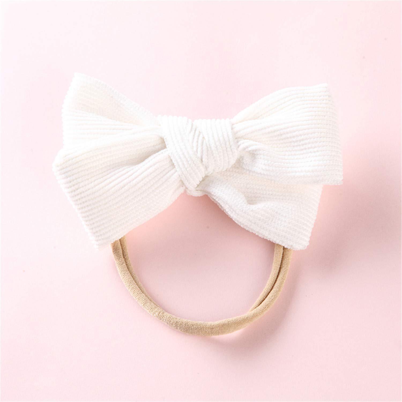 302e114e679f Amazon.com  Hand Tied Corduroy Bow Headband Or Hair Clip