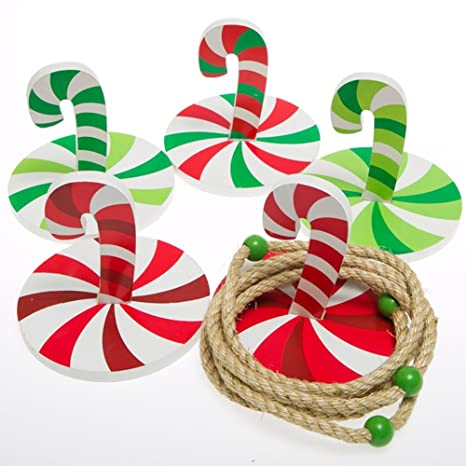 christmas candy cane ring toss game kids holiday games - Christmas Candy Cane