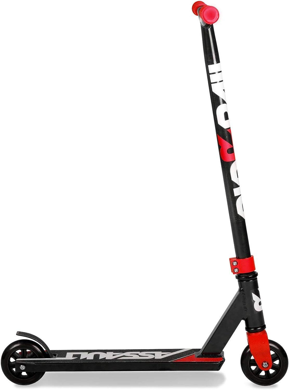 Riprail Assault Stunt Scooter in Schwarz//Rot mit Alloy Deck und ABEC-7-Lagern