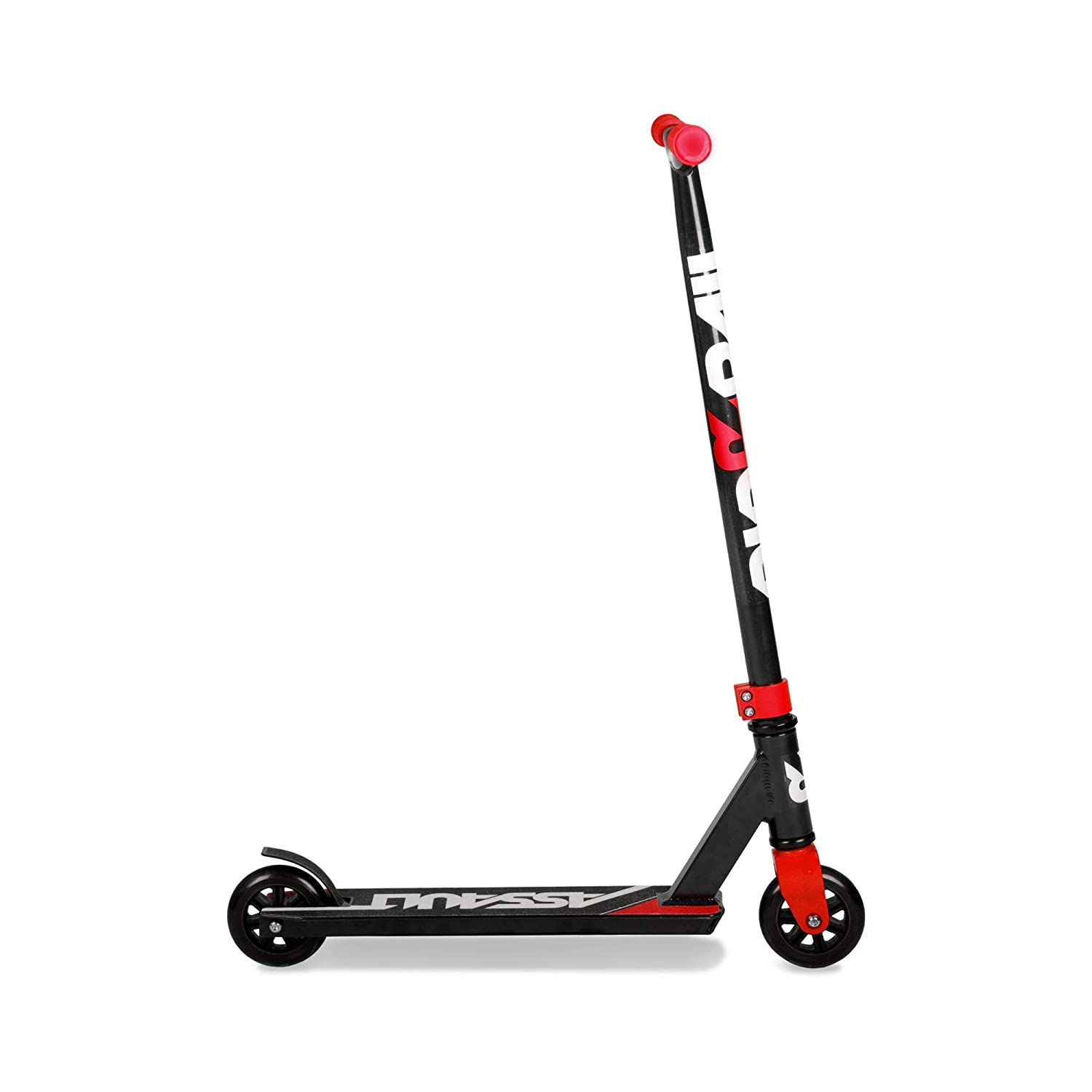 Riprail Assault Stunt Scooter Finished in Black//Red with Alloy Deck and ABEC-7 Bearings