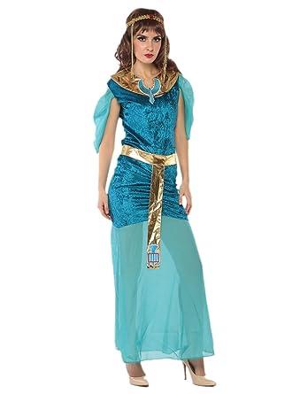 Amazon.com: Egyptian Costume Women   Halloween Blue Ancient Egyptian  Goddess Costumes Jewelry: Clothing