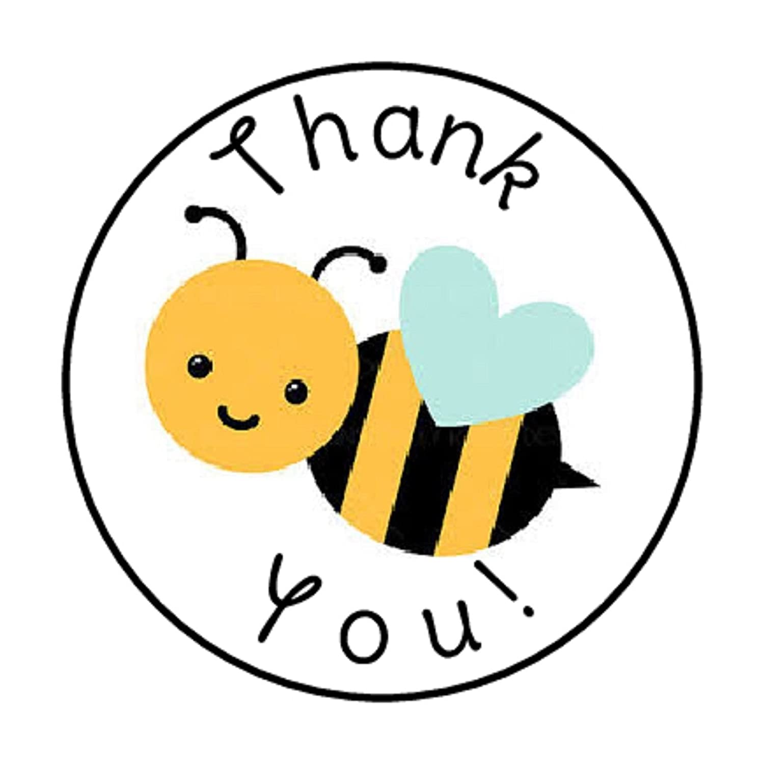 Round Labels Seals for Envelopes Decorative Bumblebee Decal Set 48 Mini Honey Bumble Bees Sticker