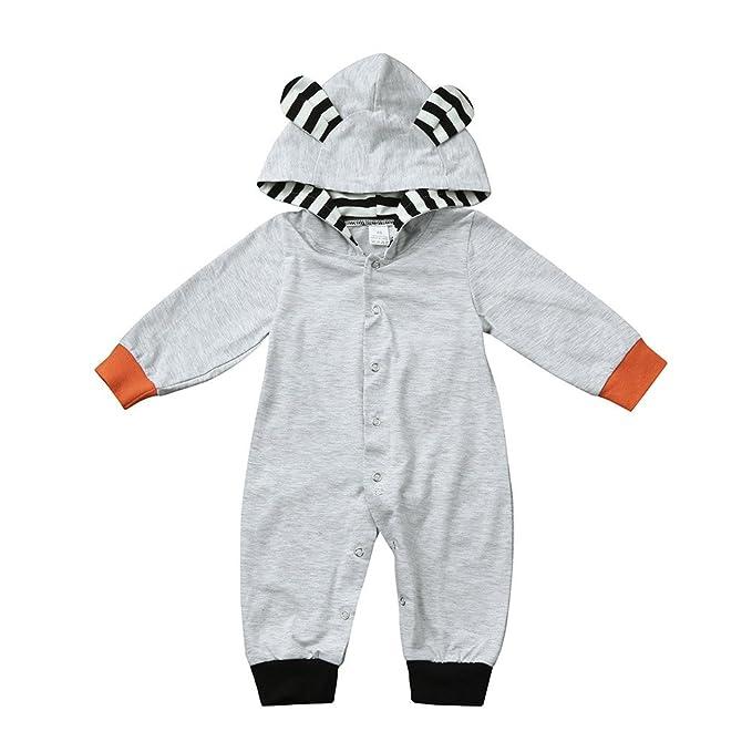 Bebe Monos de Manga Larga Fossen Ropa Bebe Niña Niño Invierno Otoño Peleles De Fox Imprimir