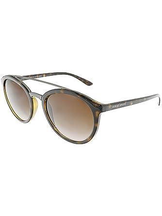 1dd75494537d Image Unavailable. Image not available for. Color  Giorgio Armani AR8083  502613 Dark Havana AR8083 Round Sunglasses ...