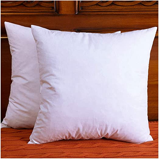 how to use decorative pillows amazon com downight two pillow inserts  down and feather throw how to use throw pillows on a bed amazon com downight two pillow inserts