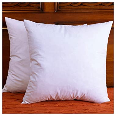 DOWNIGHT Set of 2, Down and Feather Throw Pillow Insert, The Fabric is Cotton, Decorative Throw Pillows Insert, 26 X 26 Inch