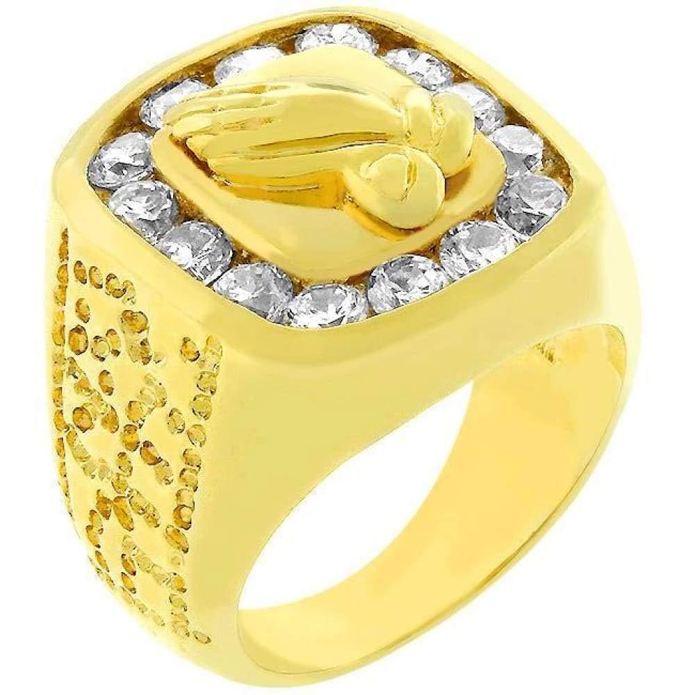 CZ Sparkle Jewelry Praying Hands Fashion Ring JGI
